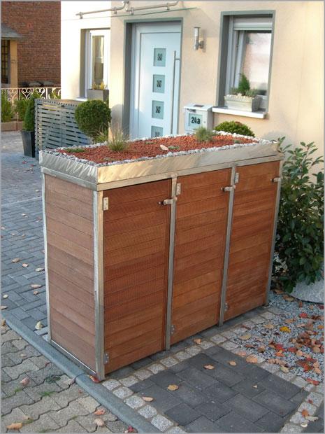 Gartenhaus mit flachdach aus holz